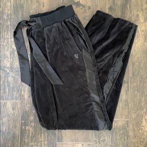 Victoria's Secret black velour pants